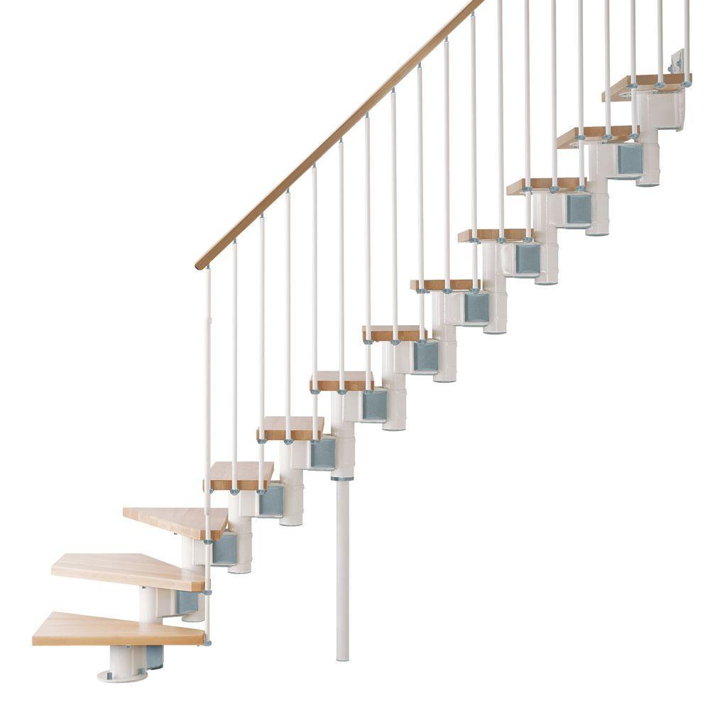 """Kompact 29 in. White Modular Staircase """"L"""" Kit"""