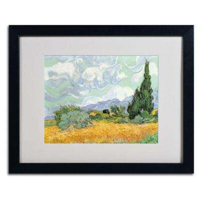16 in. x 20 in. Wheatfield with Cypresses, 1889 Matted Framed Wall Art