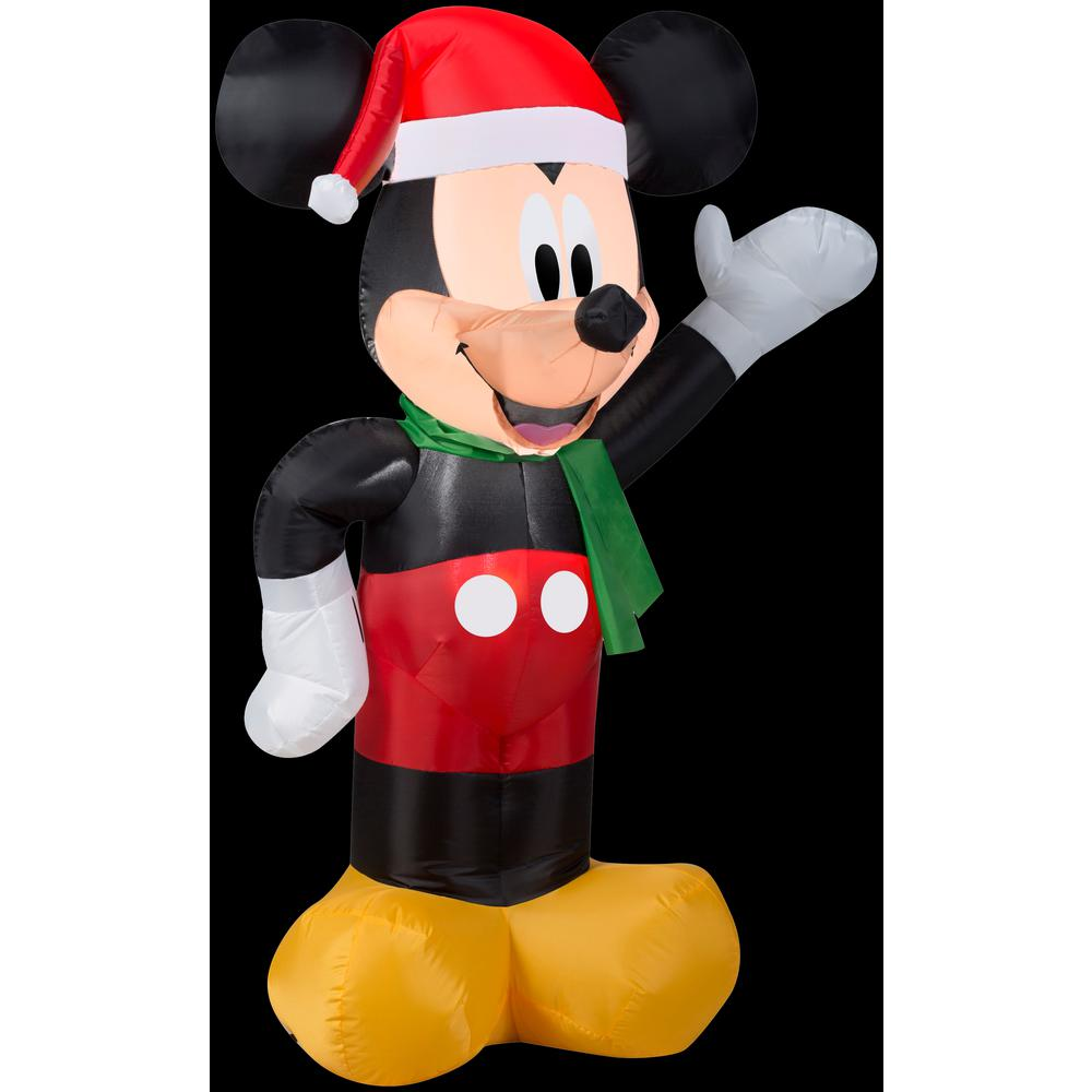 2 ft. W x 3.5 ft. H Inflatable Disney Mickey with