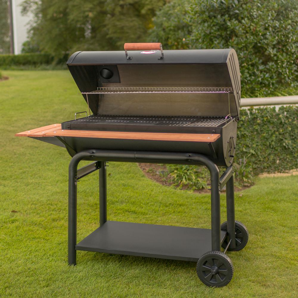 Charcoal Grill Smoker BBQ Cast Iron Grates Outlaw Char ...
