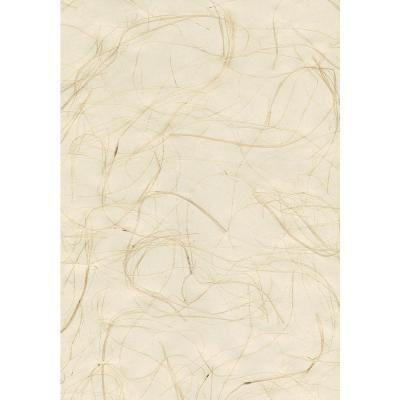 8 in. x 10 in. Suzume Cream Grasscloth Wallpaper Sample