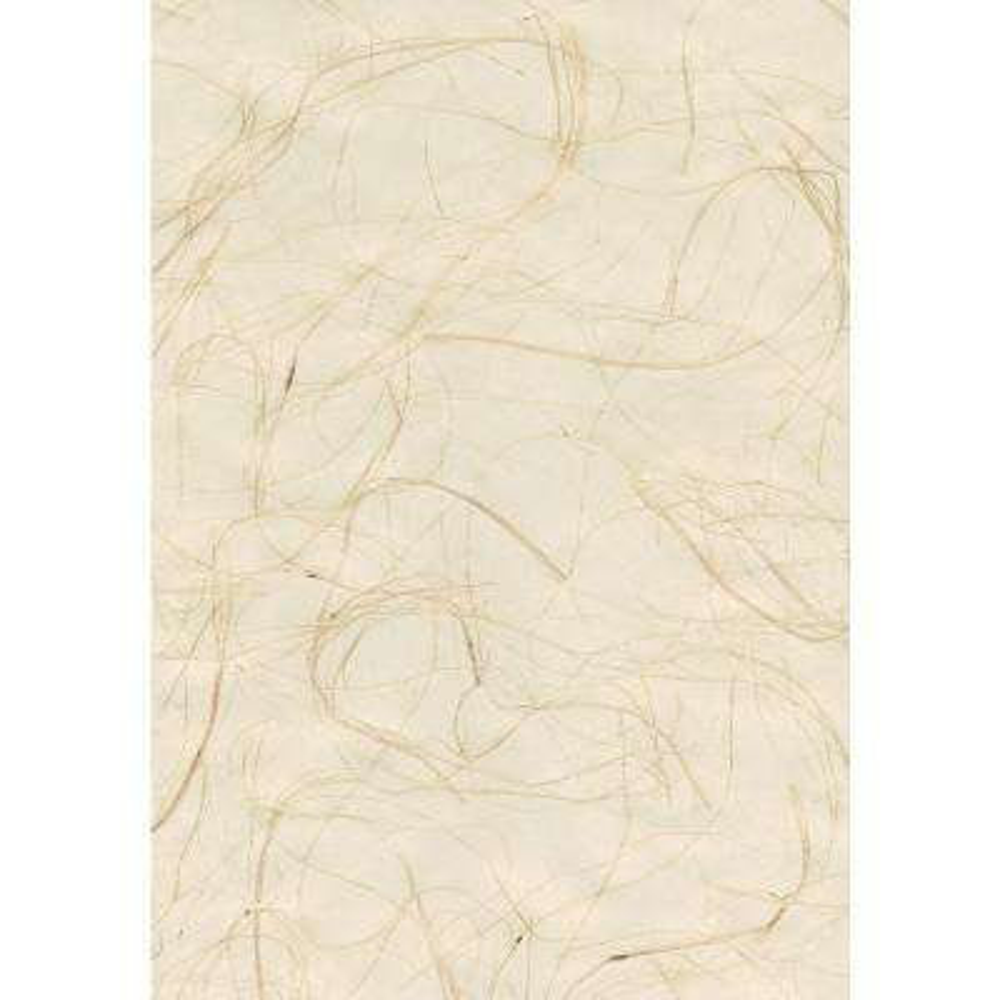 8 in. x 10 in. Suzume Cream Grasscloth Wallpaper Sample