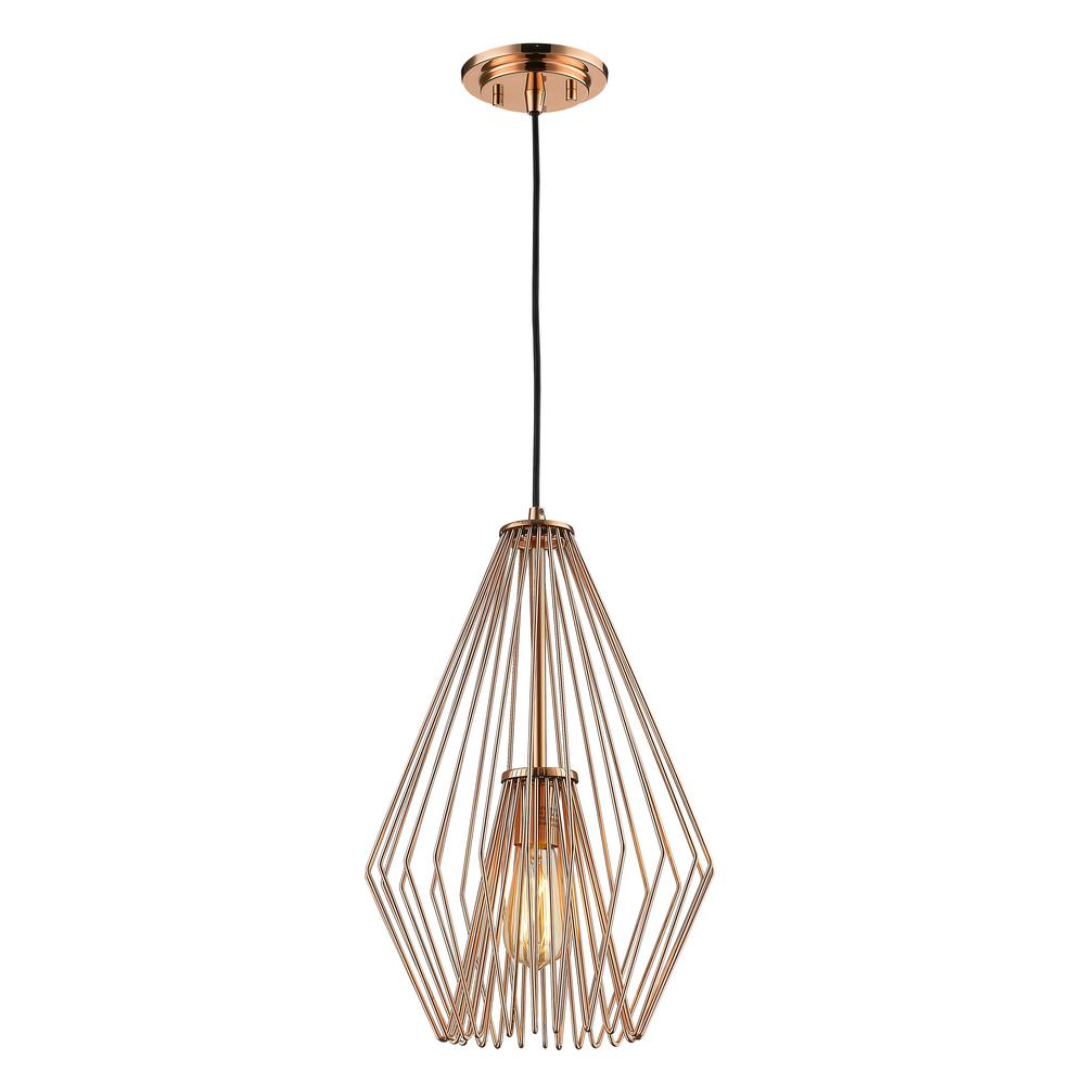 Westinghouse Boswell 1 Light Washed Copper Led Mini