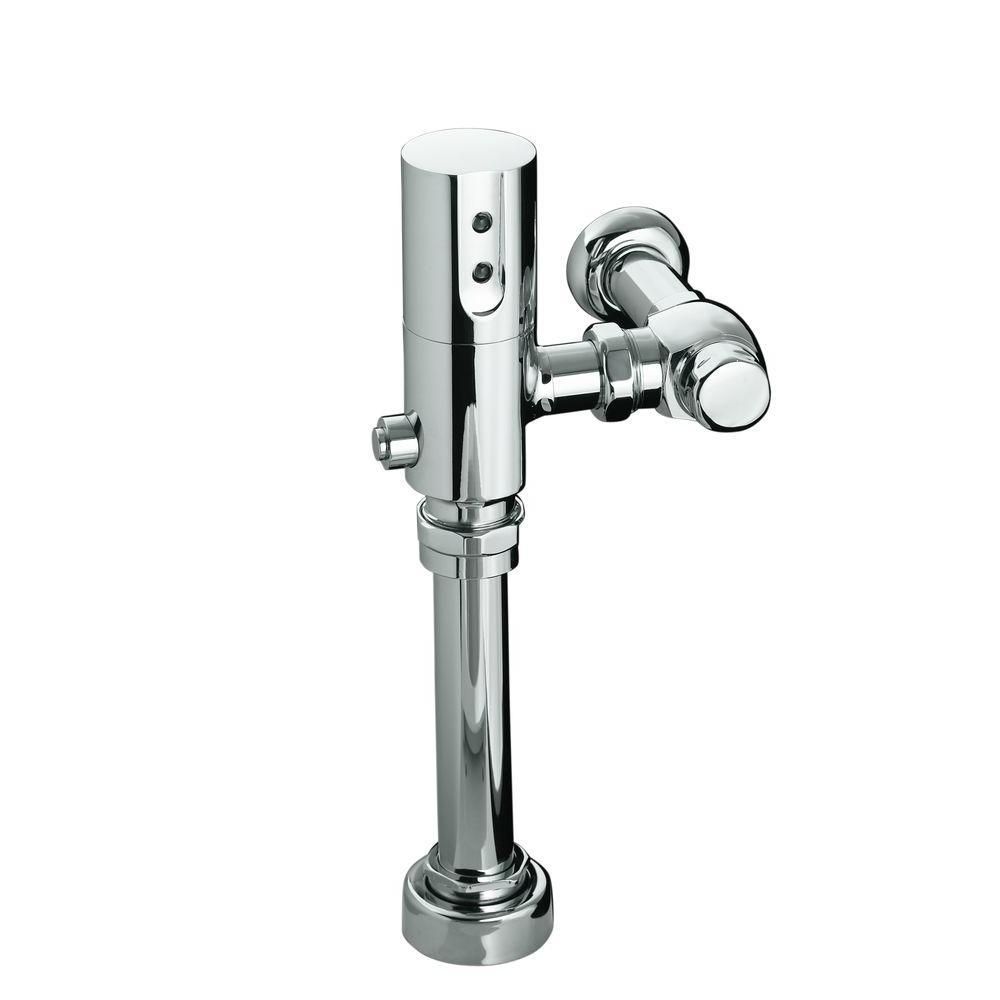KOHLER 1.6 GPF Touchless DC Toilet Flushometer in Polished Chrome