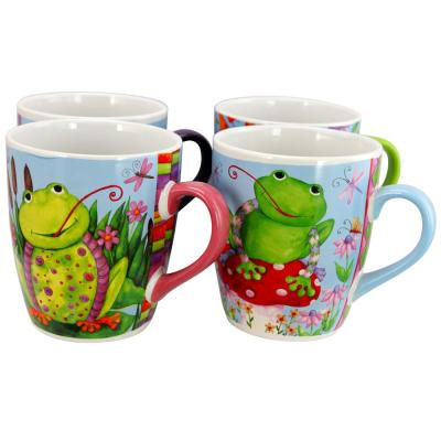 Froggy Fun Assorted Designs 27 oz. Giant Cup (Set of 4)