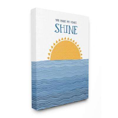"24 in. x 30 in. ""You Make My Heart Shine Sun And Ocean"" by A.V. Art Canvas Wall Art"