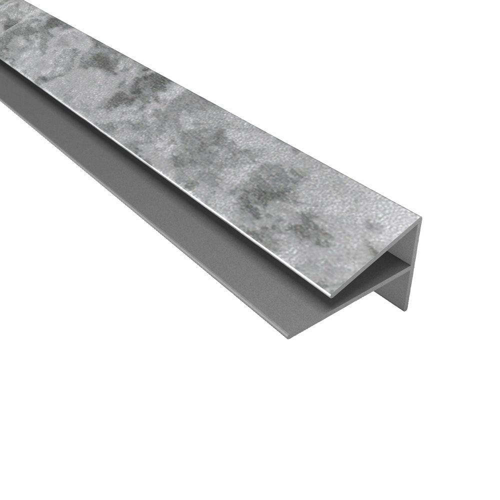4 ft. Large Profile Outside Corner Trim in Galvanized Steel