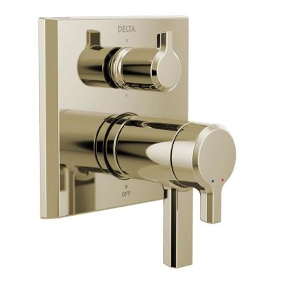 Pivotal 2-Handle Wall-Mount Valve Trim Kit with 6-Setting Integrated Diverter in Polished Nickel (Valve not Included)