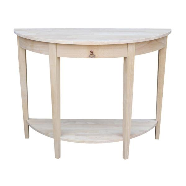 International Concepts Unfinished Storage Console Table OT-1643HD