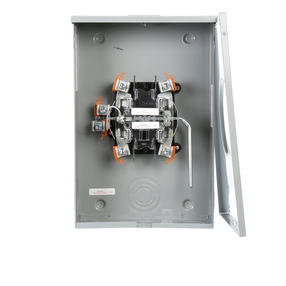 Siemens 200 Amp Ringless Lever Bypass Oh Ug Fed Meter Socket Rh173cr The Home Depot