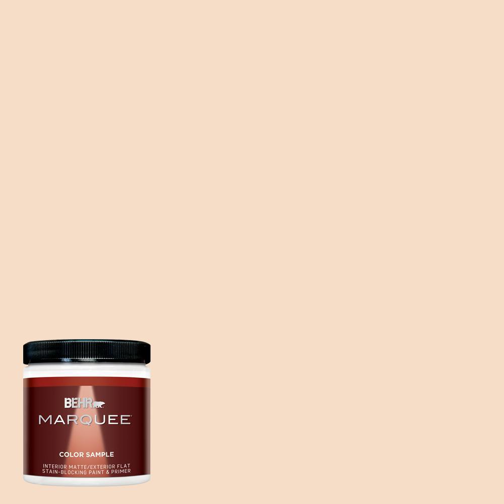 8 oz. #HDC-SP14-3 Faint Peach Matte Interior/Exterior Paint Sample