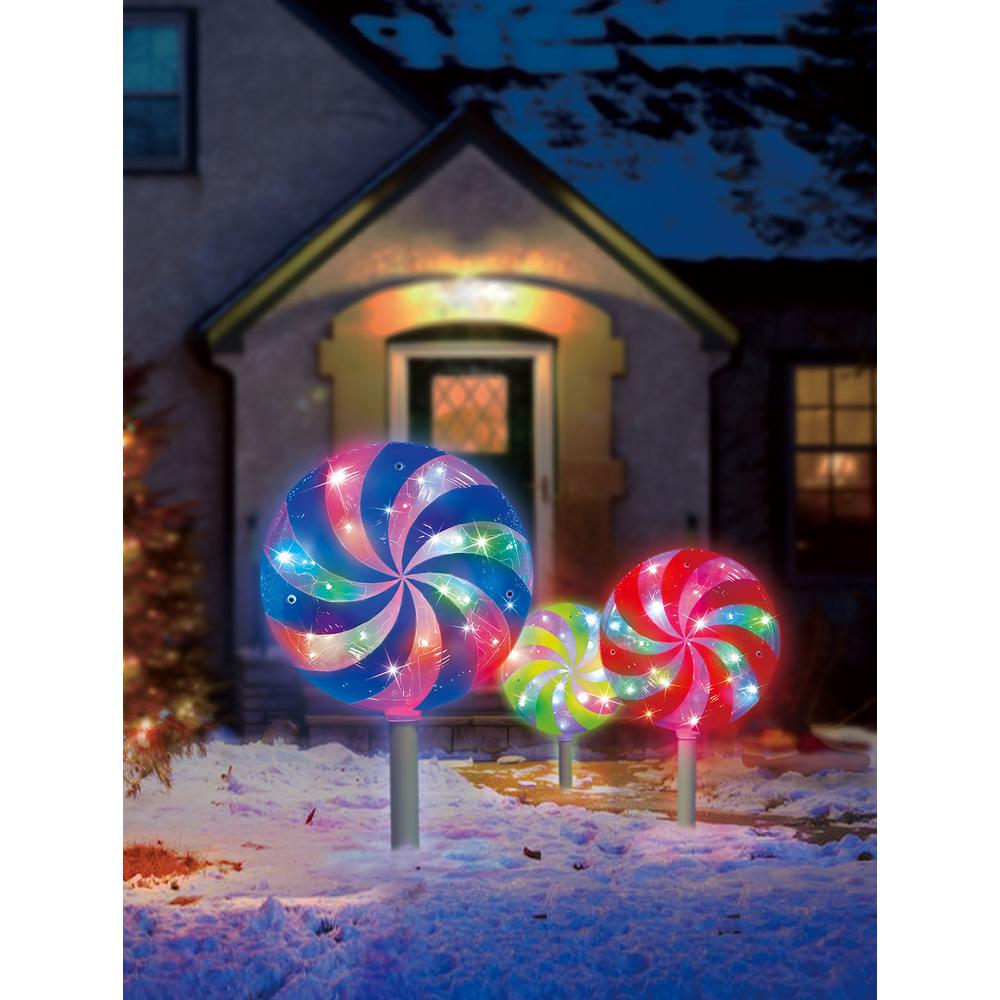 18.7 ft. Color Blast Remote Controlled RGB LED Lollipop Pathway Marker