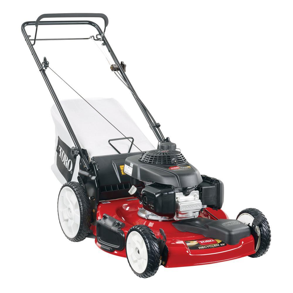 22 in. Honda High Wheel Variable Speed Gas Walk Behind Self Propelled Lawn Mower