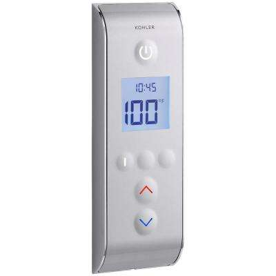 DTV Prompt Digital Shower Interface in Satin Chrome with Polished Chrome