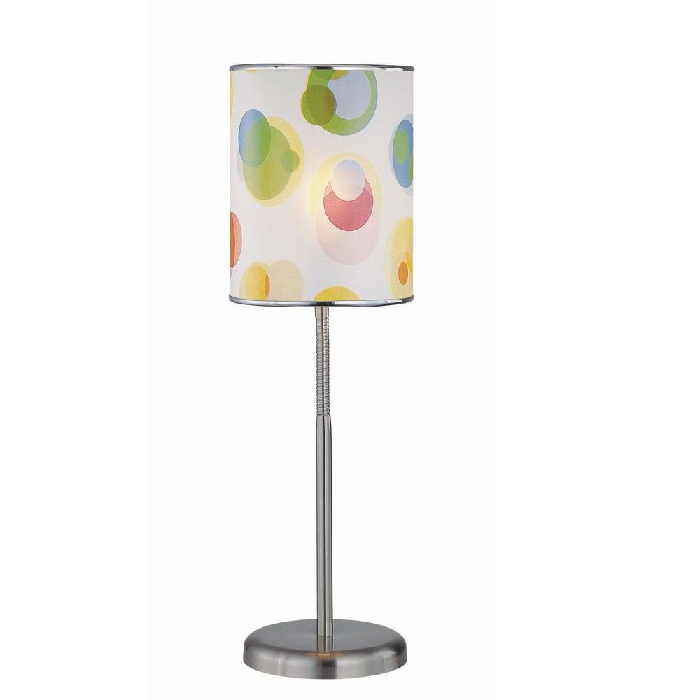 1-Light Table Lamp Polished Steel Finish