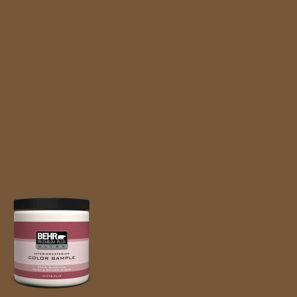 BEHR Premium Plus Ultra 8 oz. #290F-7 Wooden Cabin Interior/Exterior Paint Sample