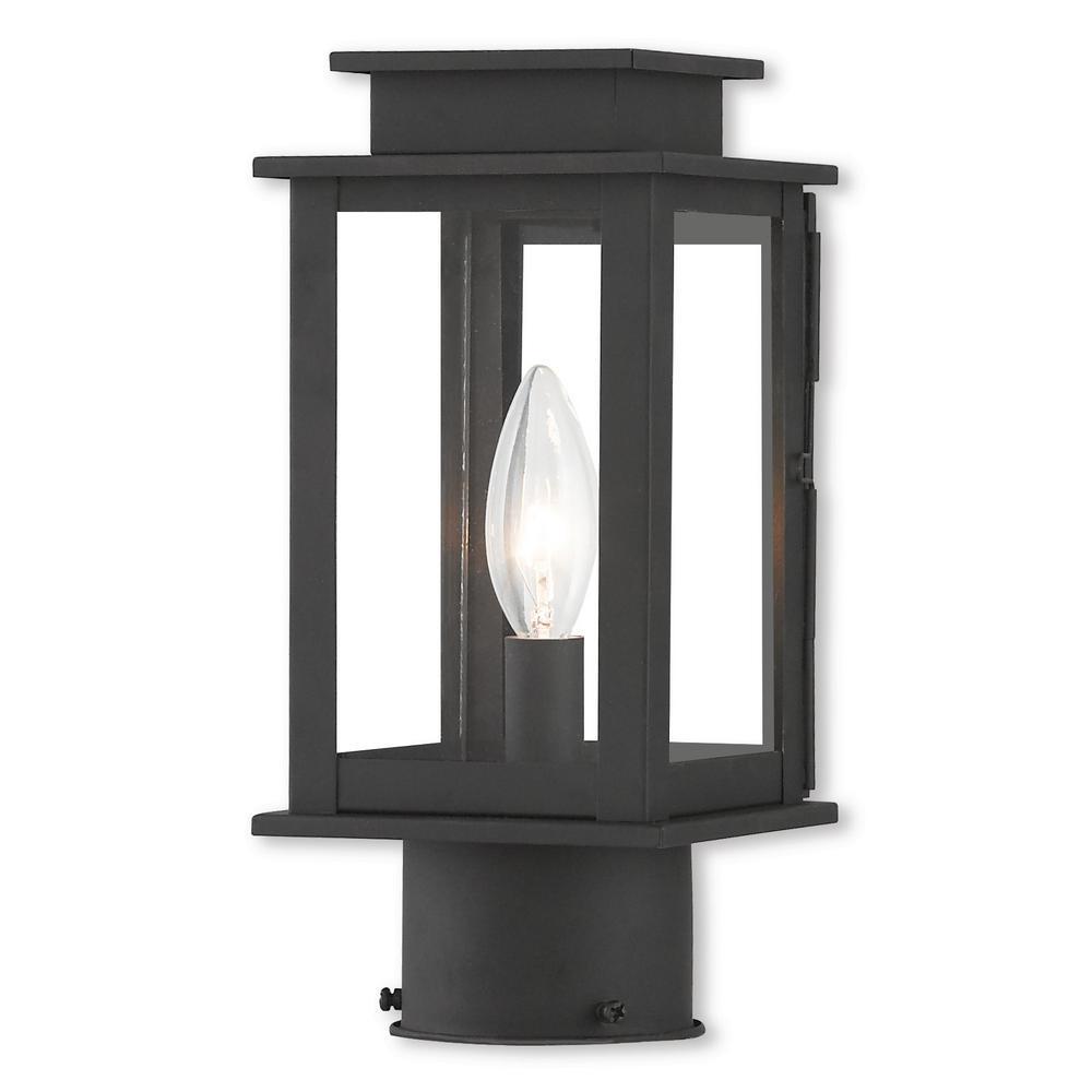 Princeton 1 Light Black Outdoor Post Top Lantern