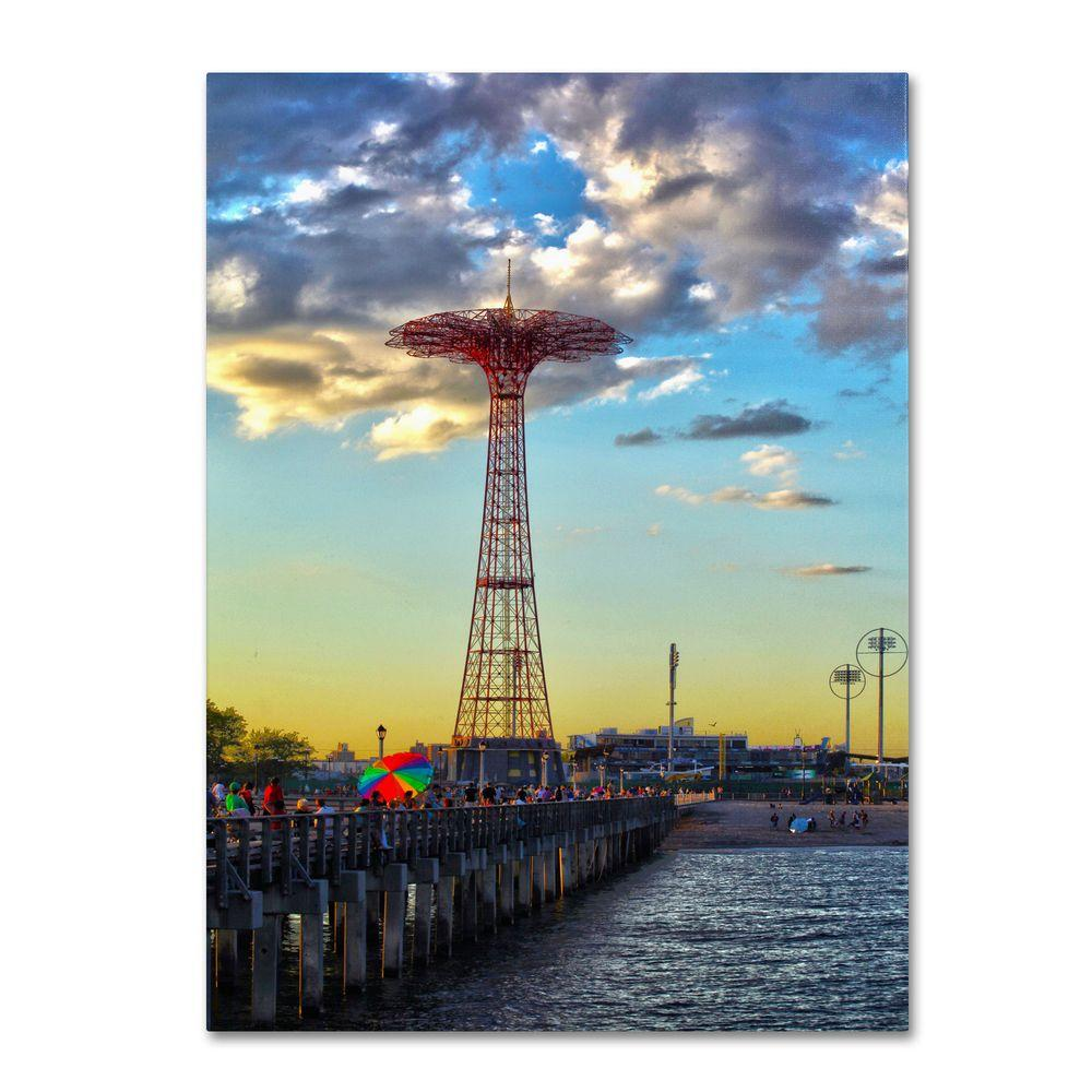 16 in. x 24 in. Coney Island Canvas Art