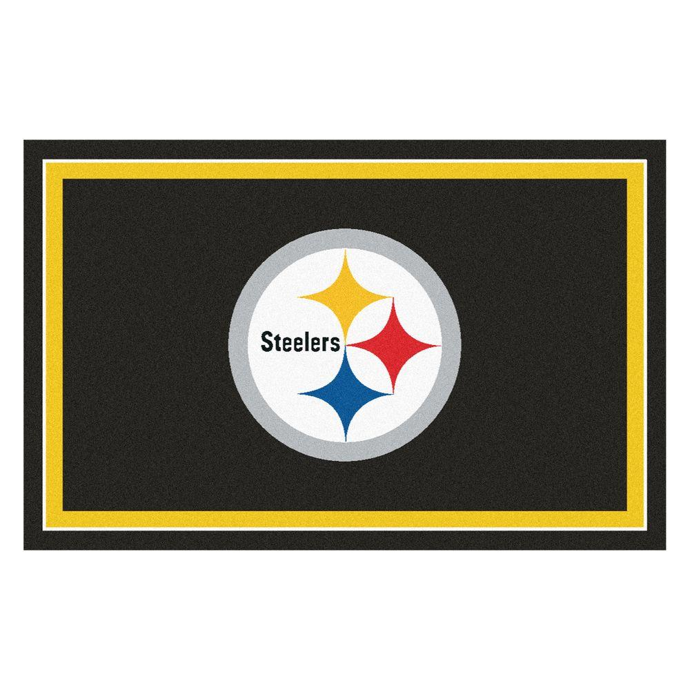 Fanmats Pittsburgh Steelers 4 Ft X 6 Ft Area Rug 6318