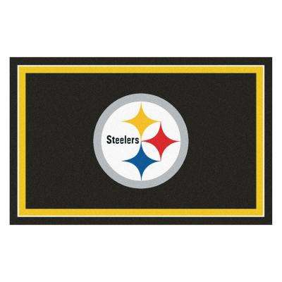 Pittsburgh Steelers 4 ft. x 6 ft. Area Rug