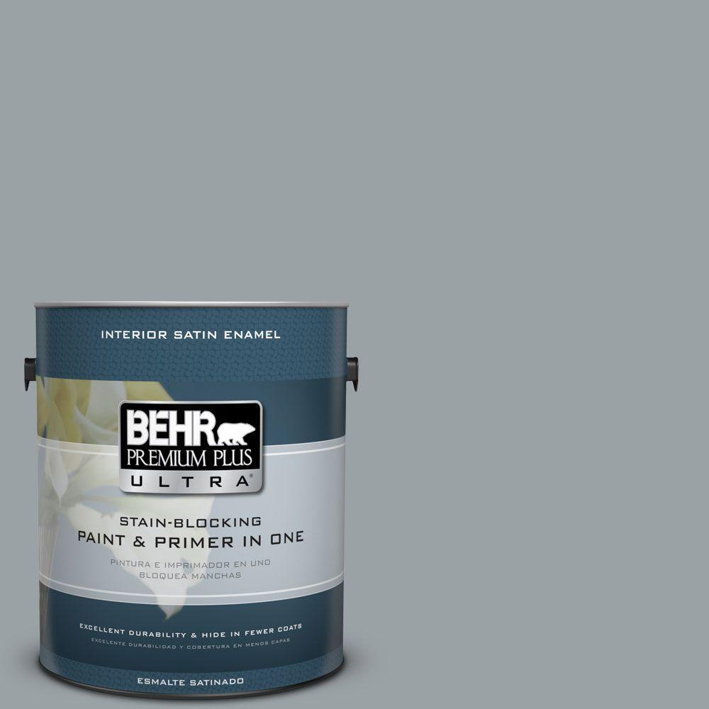 1 gal. #HDC-SM16-02 River Rock Grey Satin Enamel Interior Paint