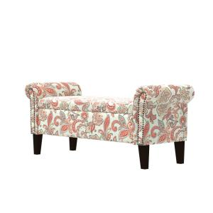 Sensational Handy Living Rose Red Multi Floral Garden Print Rolled Arm Gmtry Best Dining Table And Chair Ideas Images Gmtryco