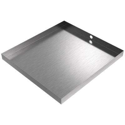 32 in. x 30 in. x 2.5 in. Washer Drain Pan in Stainless Steel