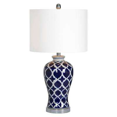 Indigo 26.5 in. Chrome Table Lamp