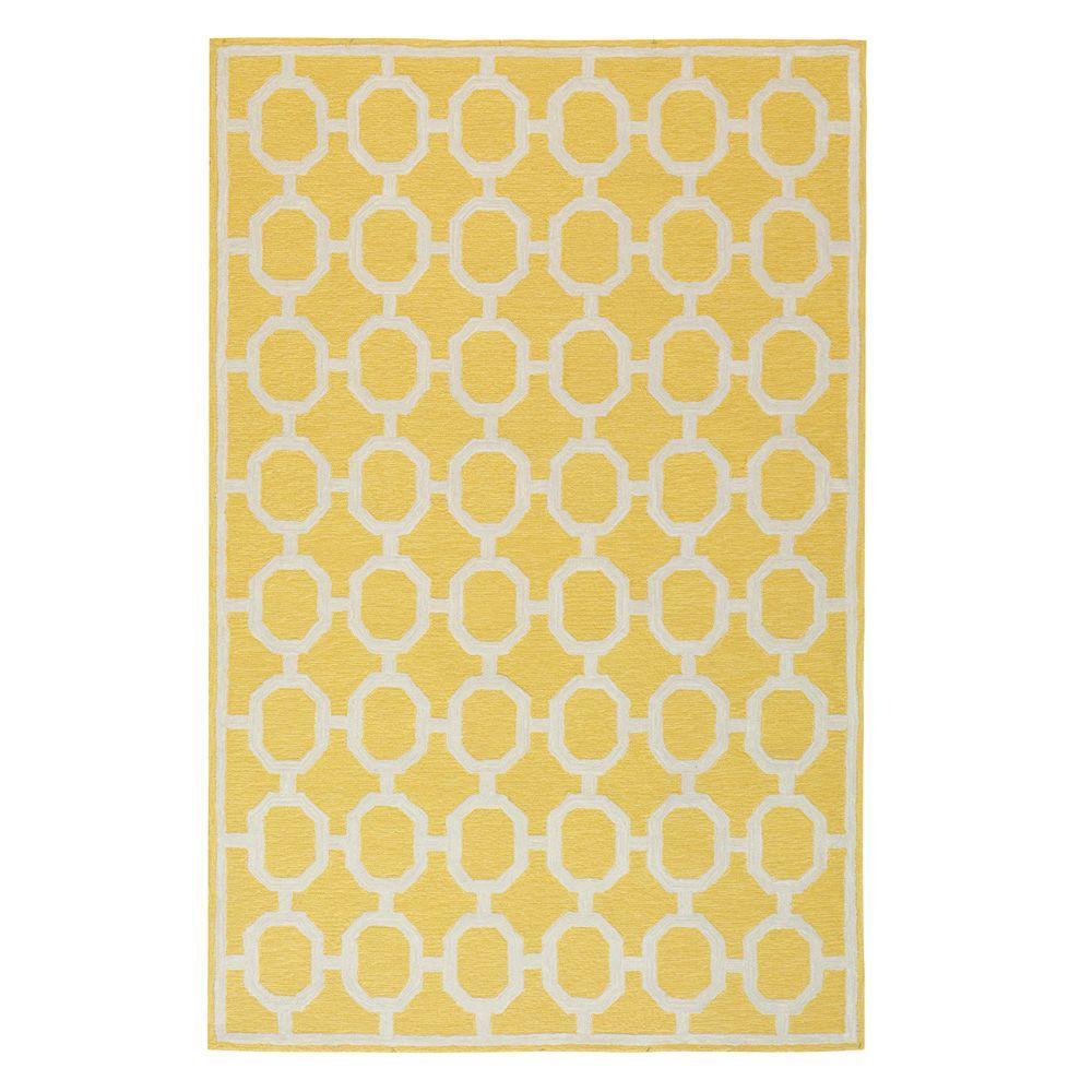 Espana Yellow 5 ft. x 8 ft. Indoor/Outdoor Area Rug