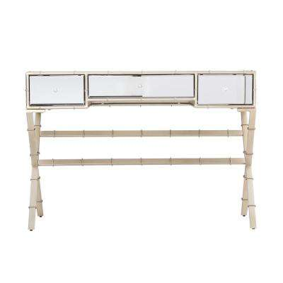 Kinsella Champagne Hollywood Regency Mirrored Console Table