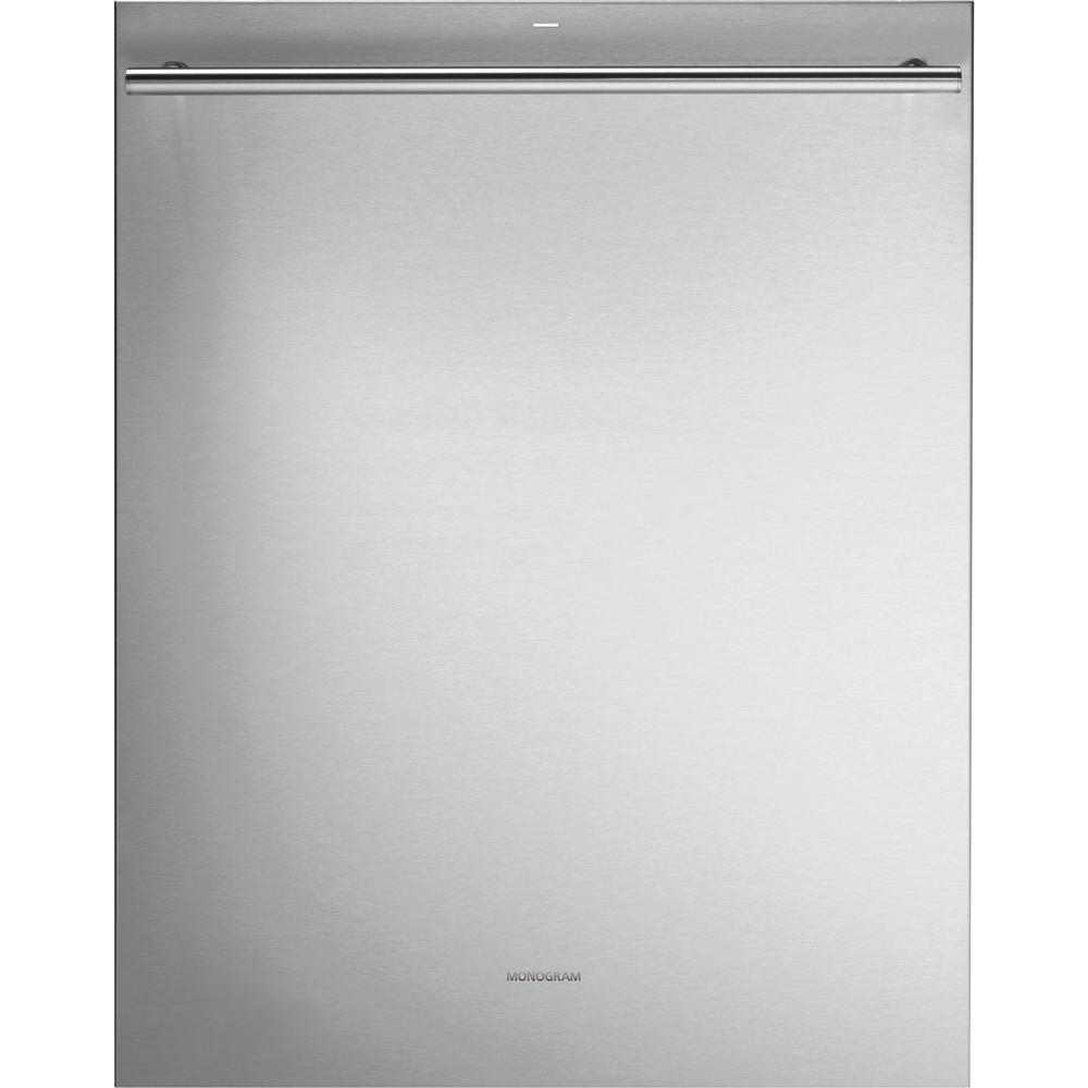 monogram top control builtin tall tub dishwasher in stainless steel with stainless steel tub
