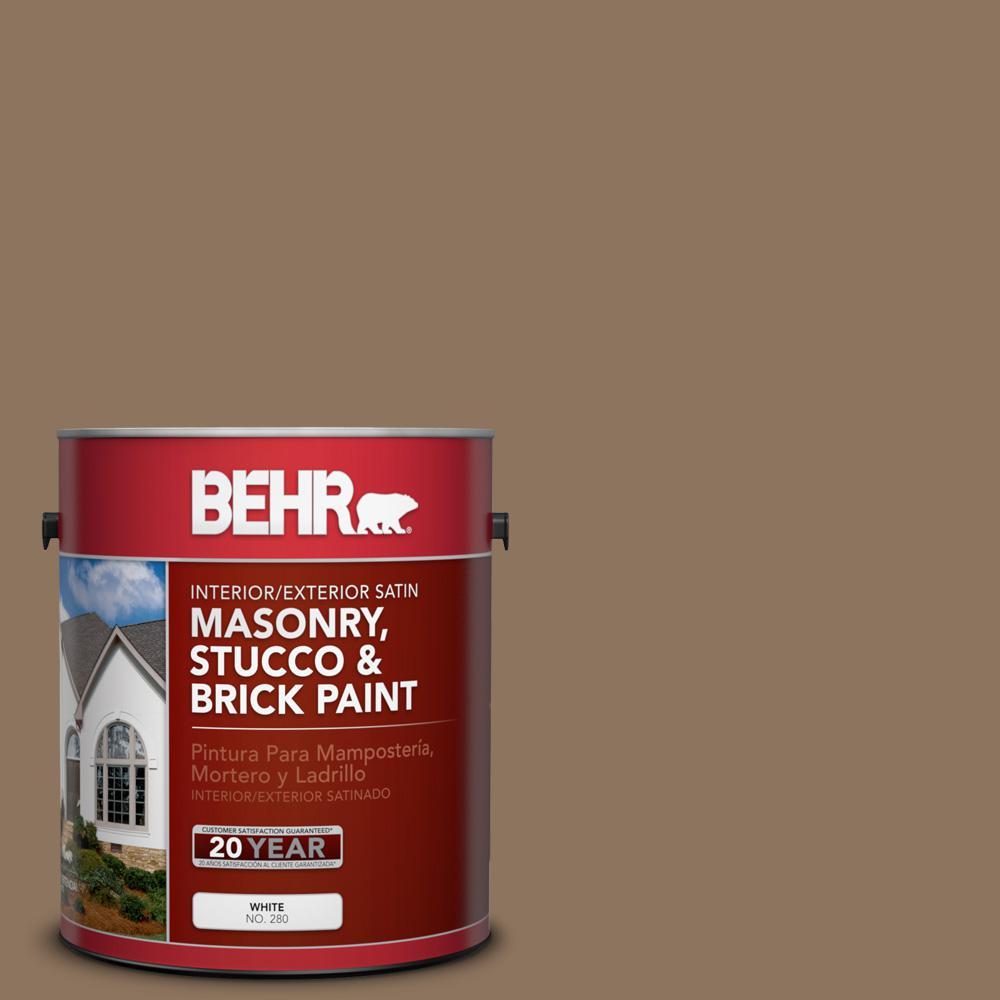 1 gal. #700D-6 Belgian Sweet Satin Interior/Exterior Masonry, Stucco and Brick Paint