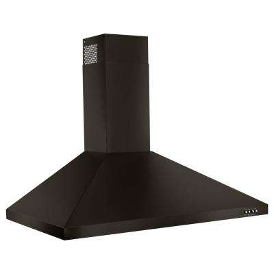 30 in. Contemporary Wall Mount Range Hood in Fingerprint Resistant Black Stainless