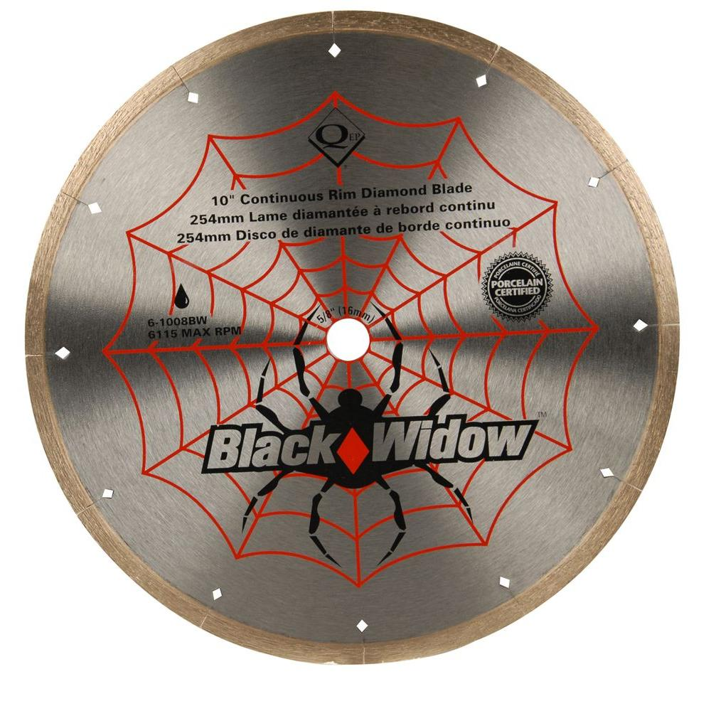 Qep 10 in black widow micro segmented diamond blade for porcelain black widow micro segmented diamond blade for porcelain and ceramic tile 6 1008bw the home depot keyboard keysfo Image collections