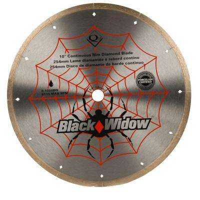 10 in. Black Widow Micro-Segmented Diamond Blade for Porcelain and Ceramic Tile