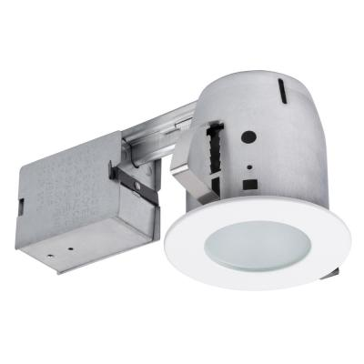 4 in. White Recessed Circular Shower Lighting Kit