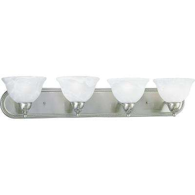 Avalon Collection 4-Light Brushed Nickel Vanity Fixture