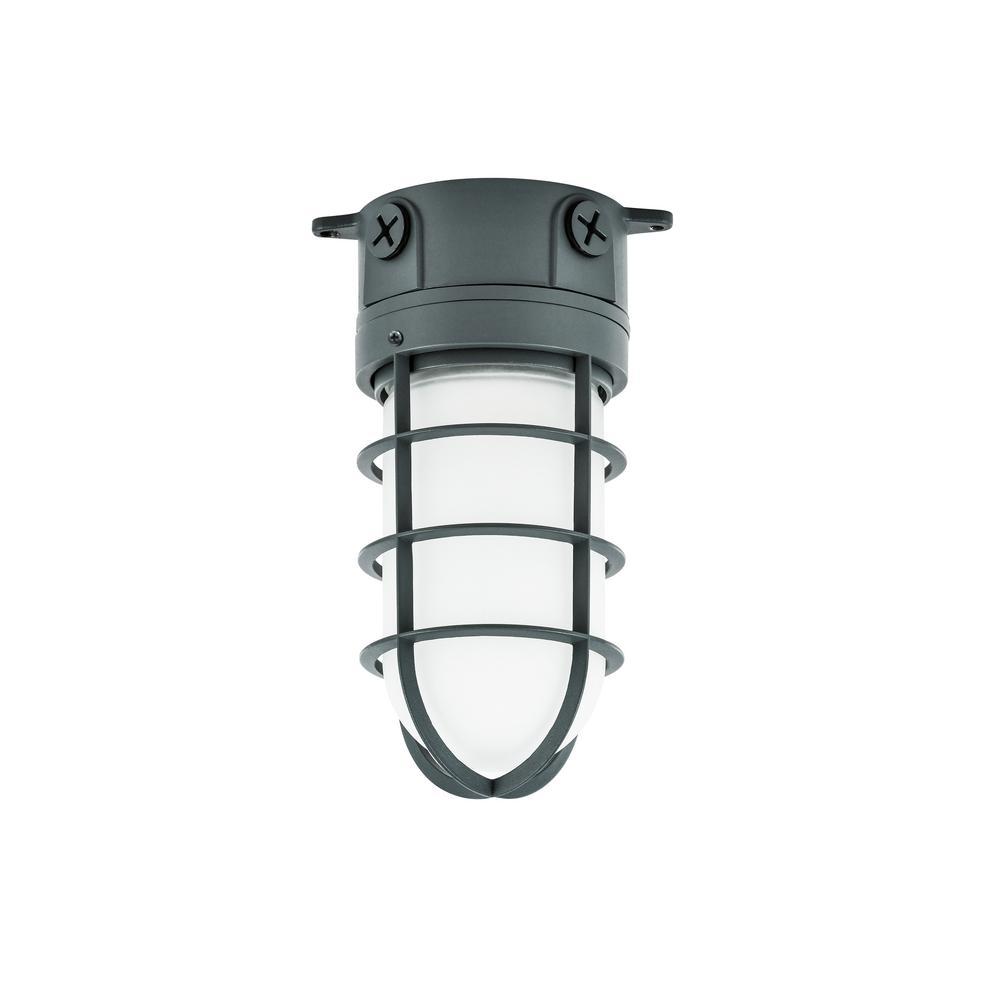 150-Watt Gray Indoor/Outdoor Area Incandescent Vapor Tight Light