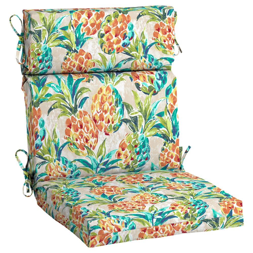 Hampton Bay Pineapples Outdoor High Back Dining Chair ...