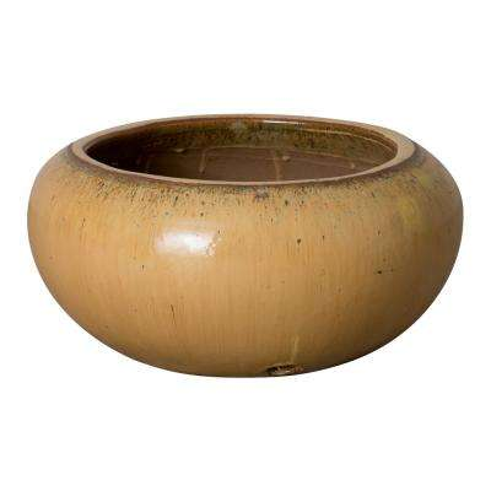 24 in. Dia Cappuccino Hose Ceramic Container/Planter