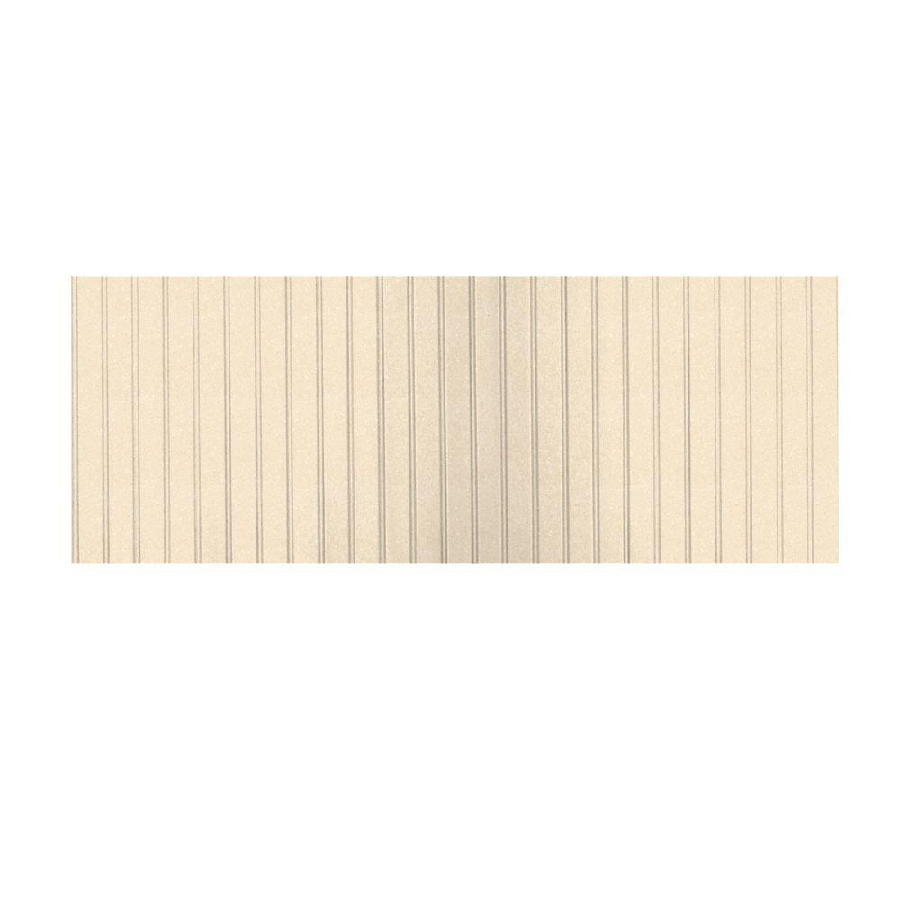 Swanstone 8 ft. x 3 ft. Beadboard One Piece Easy Up Adhesive Wainscot in Tahiti Terra-DISCONTINUED
