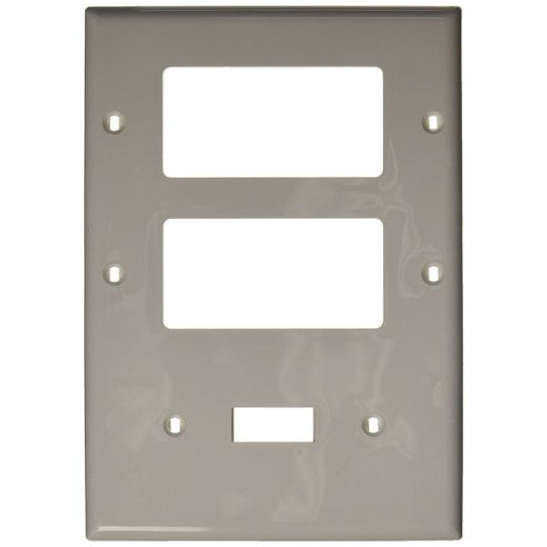 White 3-Gang 1-Toggle/2-Decorator/Rocker Wall Plate (1-Pack)