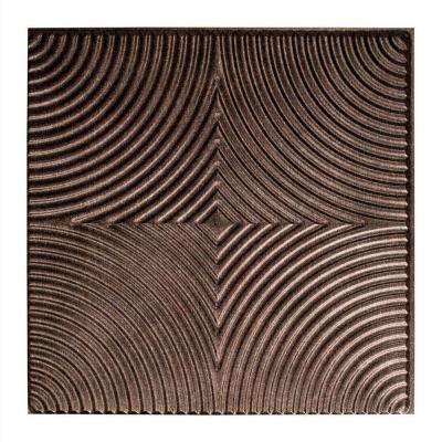 Echo - 2 ft. x 2 ft. Glue-up Ceiling Tile in Smoked Pewter