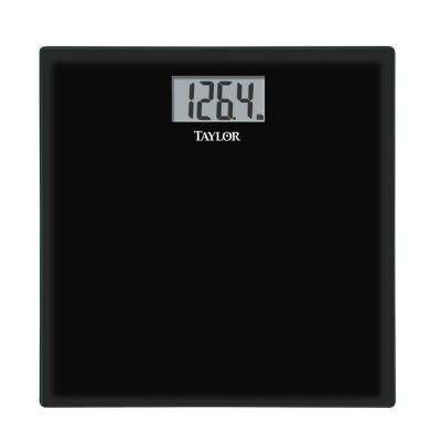 Glass Digital Scale in Black