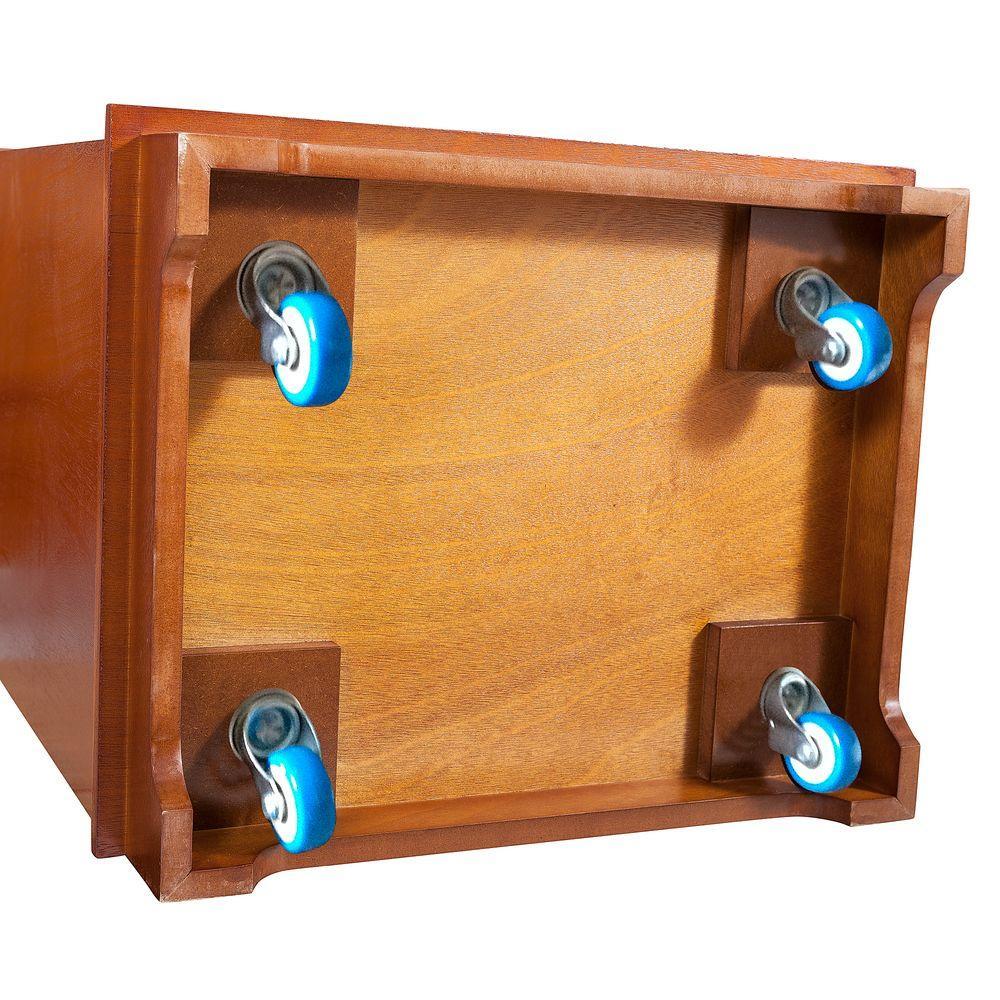 Elegant Home Fashions Silver Wine Cabinet Caster