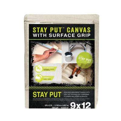 9 ft. X 12 ft. Stay Put Canvas Drop Cloth