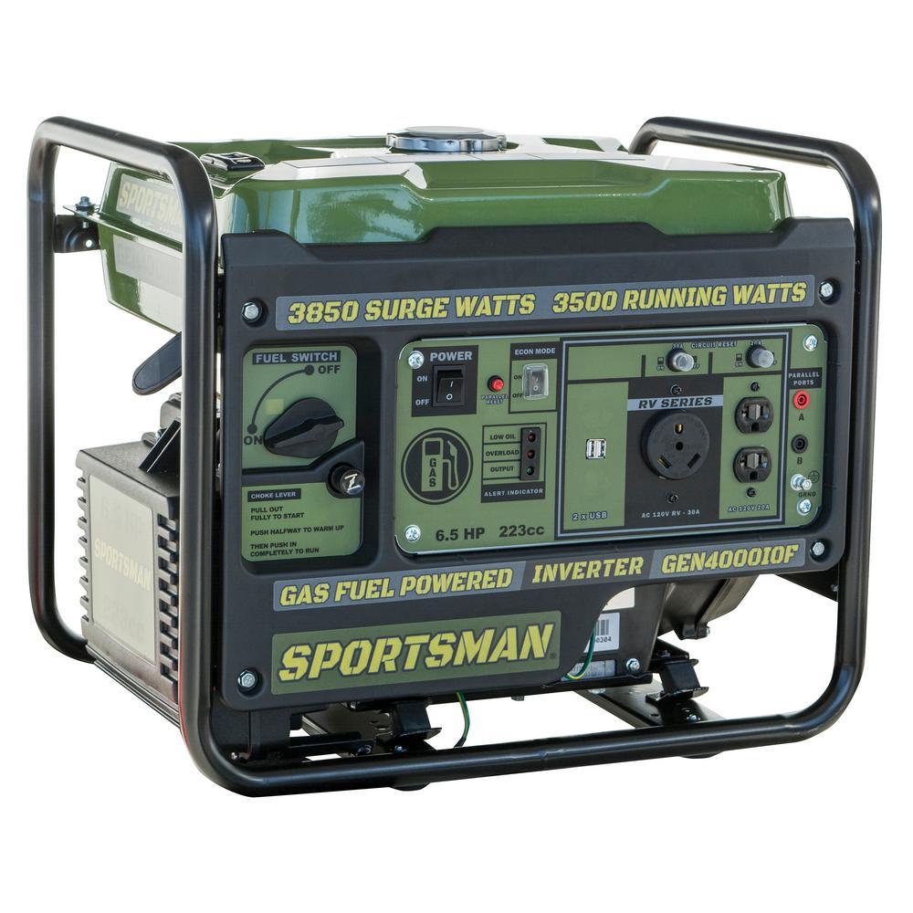 Sportsman 3850-Watt/3500-Watt Gasoline Portable Inverter Generator