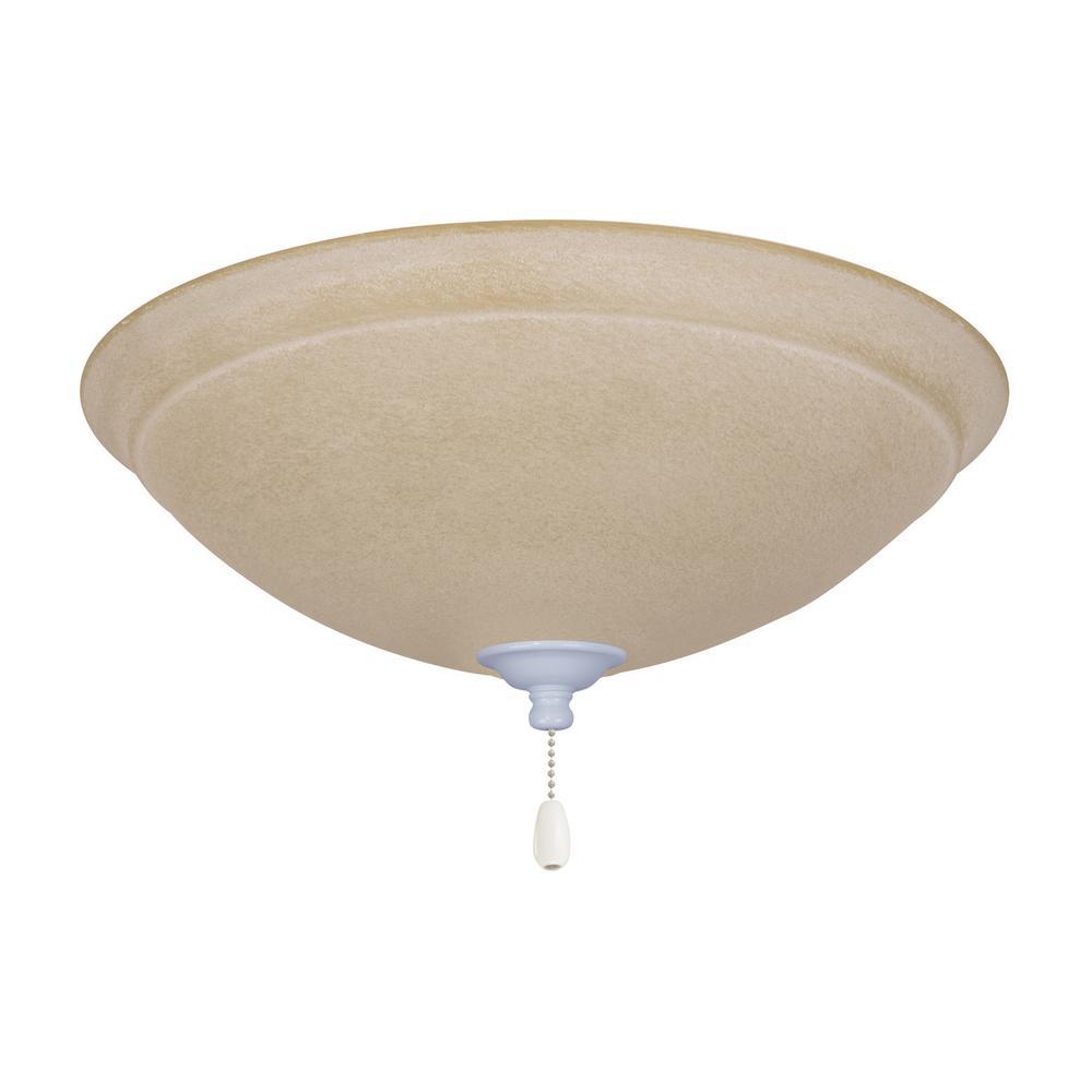 Ashton Amber Mist 3-Light Appliance White Ceiling Fan Light Kit