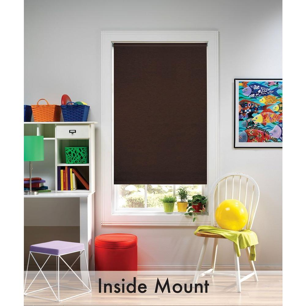 Java Blackout Cordless Fabric Roller Shade - 39 in. W x