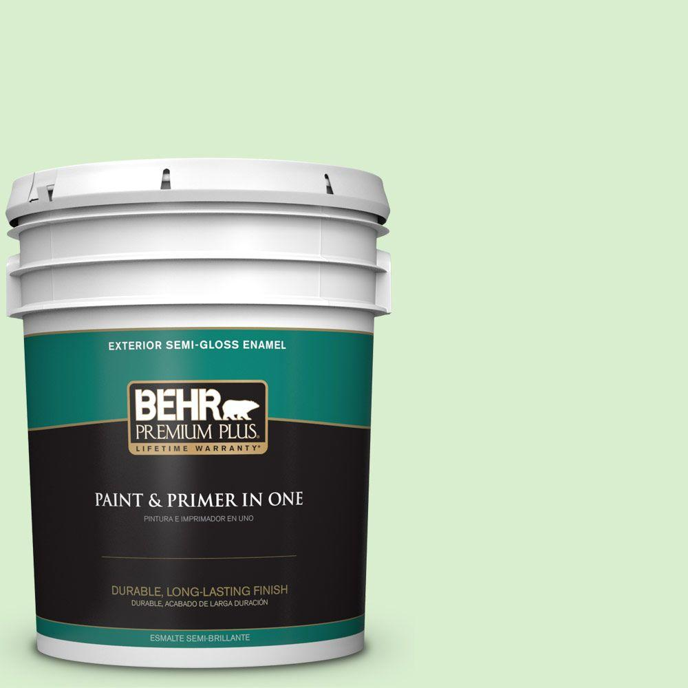 5-gal. #430A-2 Seafoam Spray Semi-Gloss Enamel Exterior Paint